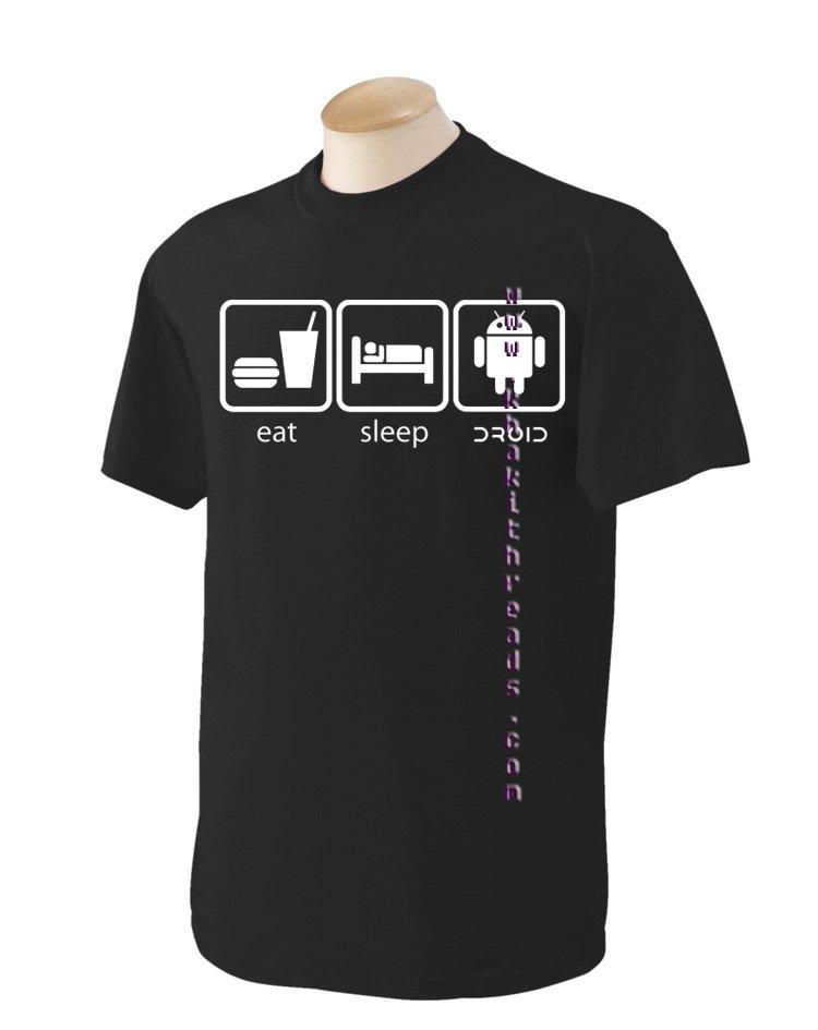 eat,sleep, android Geek T-Shirt