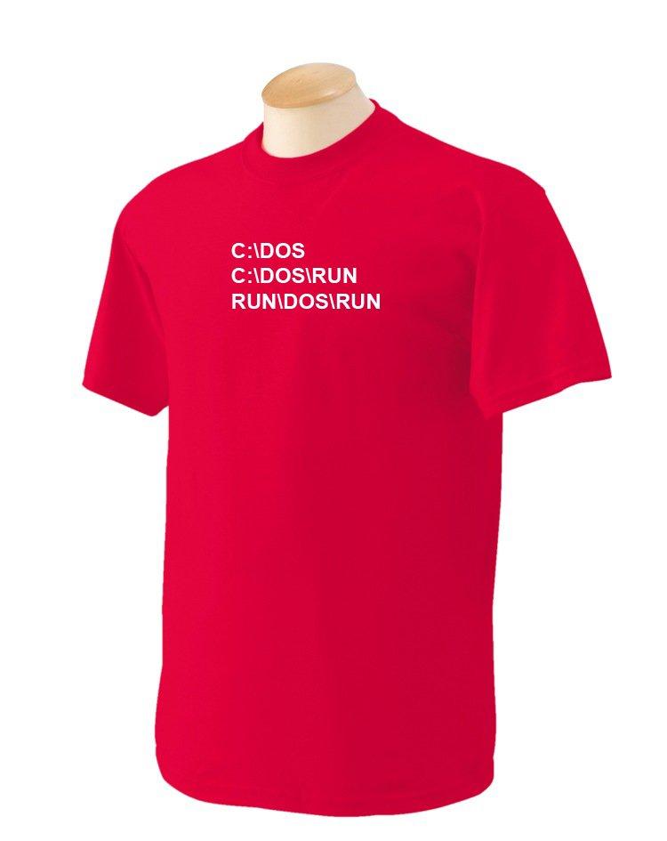 C DOS RUN Geek T-Shirt