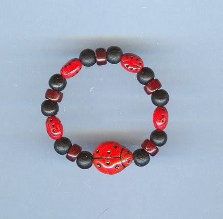 Childs Lady Bug Bracelet