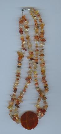 Carnelian Necklace with Round Center Bead