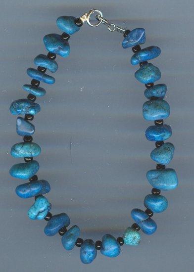 Dyed Turquoise and Black Onyx Bracelet