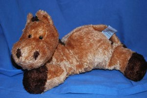 "HTF DAKIN Plush Brown Horse ""PATRICK"" Approxi. 17"" EUC"