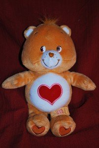 TENDER HEART Care Bears Talking Plush w/Bandage EUC