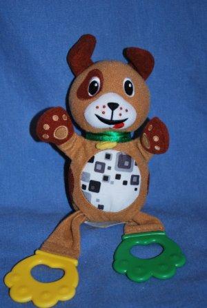"Baby EINSTEIN DOG Rattle Crinkle Baby Toy 10"" Plush EUC"