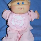 Cabbage Patch Kid Doll CPK Blonde Hair Blue Eyes EUC