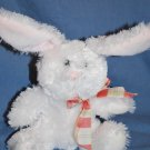 "HALLMARK White Cuddly EASTER Bunny w/Bow Approx 9"" LNC"
