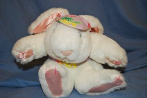 """FRANCESCA HOERLEIN White EASTER Bunny Approx 11"""" GUC"""