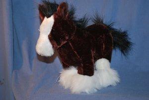 Clydesdale Horse GANZ Webkinz Regular Size Webkinz EUC