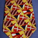 "TOMMY Hilfiger 100% Silk Yellow Flag Tie 58"" EUC"