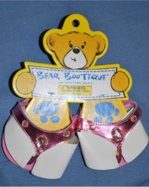 NEW BUILD A BEAR Pink Sequin Sandals Flip Flop Shoe NWT