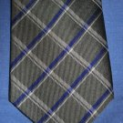 CHAPS Mens SILK Neck Tie Green & Navy Plaid AWESOME EUC