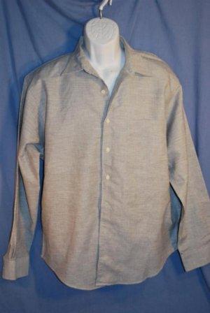 Mens CLUB ROOM Button Front Shirt Black Linen Size L