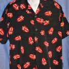 ROCK Band RED Hotlips Shirt Size MEDIUM LNC EUC