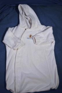 RALPH LAUREN ~ White Terry Bath Towel Robe One Size EUC