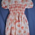 Sophie Dess SMOCKED Dress Pink Floral Size 3 EUC LNC