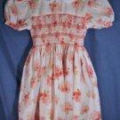 Sophie Dess SMOCKED Dress Pink Floral Size 3 EUC LNC