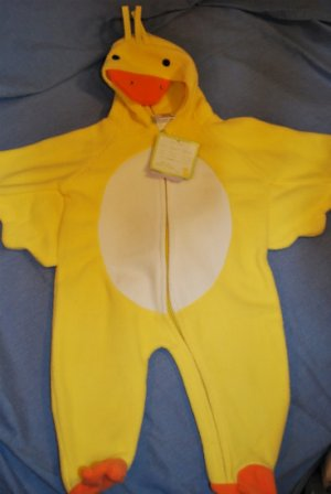 NEW Little Yellow DUCKY Fleece Costume 1 pc Size 6/9M
