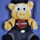 "1993 HARLEY DAVIDSON ~10"" Plush PIG Play-by-Play EUC"
