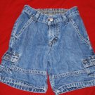 Boys WRANGLER Denim Cargo Shorts Size 5 EUC