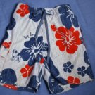 Boys Hawaiian Red Blue BIG DOG Swim Trunk Suit Size 4/5