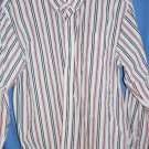 Izod Dress Shirt Boys Red White Black Size 14/16