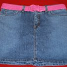 NEW Bandolino Stretch Denim SKORT with BELT Size 12 NWT