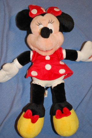 "HTF Disneyland Plush MINNIE MOUSE 16"" Talking Plush"