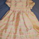 HEARTSTRINGS Silk Pink Green Plaid Dress Size 6 LNC
