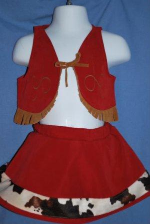 GYMBOREE Cow Girl halloween Costume Size 6-12 Mos. EUC