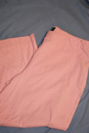STYLE & CO Capris Pink &  White Gingham Size 14