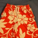 OLD NAVY SWIM TRUNKS Orange White Hawiian Large 10/12
