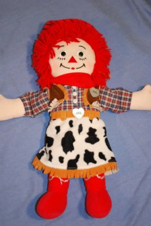 Western Raggedy Ann Doll by Applause 2001 EUC