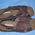 EASY SPIRIT Dark Brown Leather Sandals Size 9.5B EUC