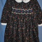 Carriage Boutiques Black Pinwhale Corduroy Dress Size 18M EUC