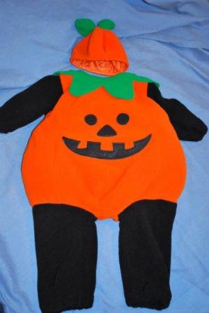 MINIWEAR Little PUMPKIN Fleece Costume 2 pc Size 12M