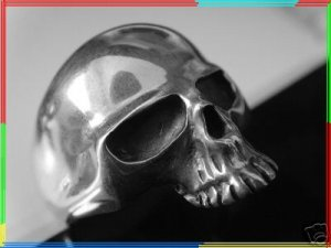 KEITH RICHARDS SKULL ROLLING STONES 925 STERLING SILVER RING ALL SIZE