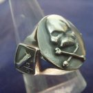 1%ER STERLING SILVER SKULL BIKER OUTLAW GANG GROUP RING ALL SIZES