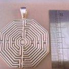 STERLING  SILVER  Greek LABYRINTH Maze PENDANT Necklace