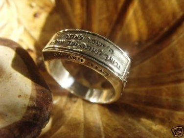 PRAYER RING JEWISH KABBALAH POWER GOD SAVED YOU FOEVER