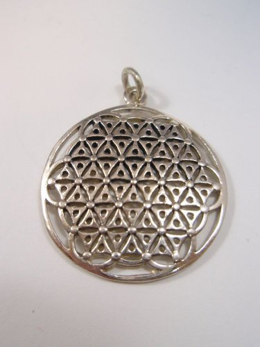 MANDALA FLOWER OF LIFE PENDANT Secret Kabbalah Healing Fruit