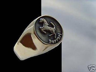 Outdated Italian Enzo Race f430 360 STERLING SILVER CAR ALL RING SIZE