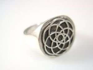 Ezi Zino Circle of Life tree of life Flower of Life sterling Silver 925 Ring