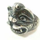 Sterling Silver 925 Hanuman Deity Hindu Buddha Monkey Ring