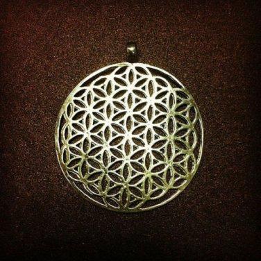 Authentic Large Flower of Life Sacret Kabbalah 925 Silver star of David pendant