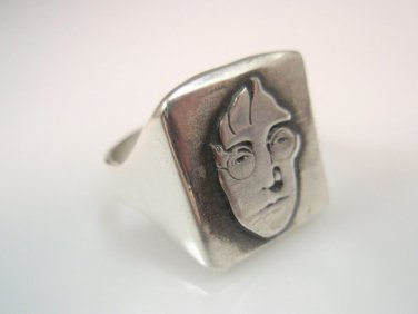 John Winston Ono Lennon The Beatles Ring Solid Sterling Silver 925