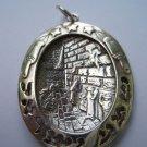 Shema Israel Western Wall Jerusalem prayer Jewish Pendant sterling silver 925