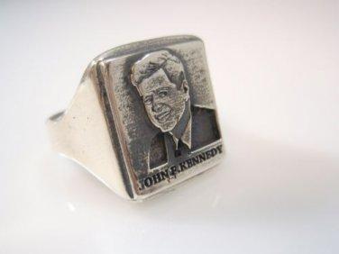 john kennedy Jack Kennedy Portrait Ring Sterling Silver 925