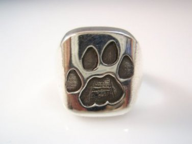 Ezi Zino Jewelry Designer lion Claw/Paw signet ring Solid Sterling Silver 925