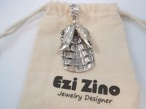 Ezi zino dog tag Crocodile alligator Texture& teeth Black Diamonds pendant