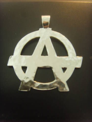 ANARCHY PENDANT PUNK ROCK GOTHIC STERLING SILVER 925